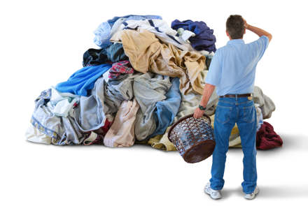 A ton of overwhelming, dirty laundry